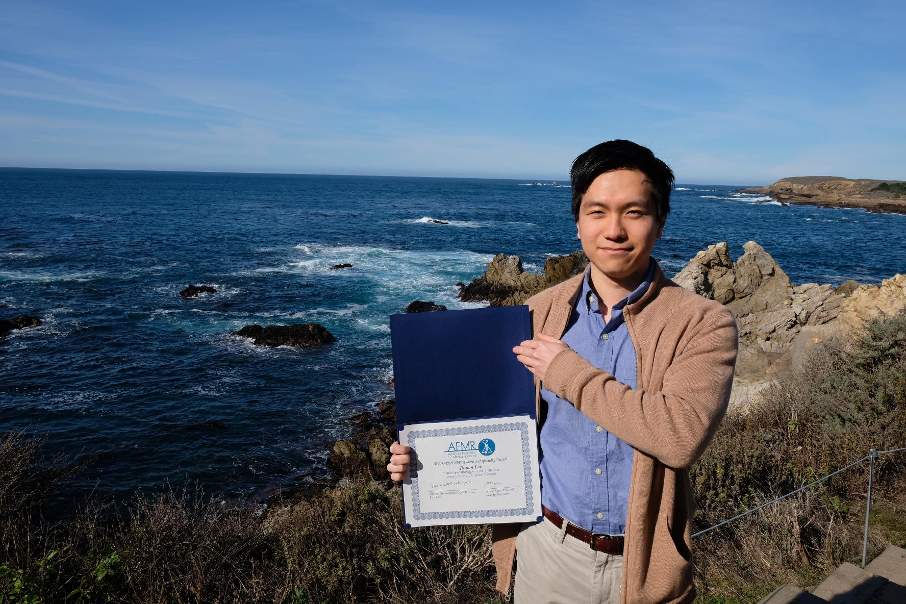 Jihoon Received A WAFMR/WAP Student Subspecialty Award.